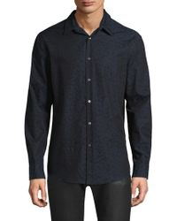 John Varvatos - Printed Cotton Button-down Shirt - Lyst