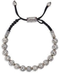 John Varvatos Artisan Metals Sterling Silver Adjustable Bracelet - Metallic