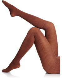 Falke Modern Check Tights - Brown