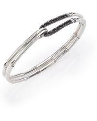 John Hardy - Bamboo Sapphire & Sterling Silver Hook Bangle Bracelet - Lyst