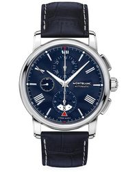 Montblanc 4810 Automatic Stainless Steel & Alligator Strap Chronograph Watch - Multicolor