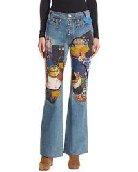 COACH - Patches Cotton Denim Jeans - Lyst