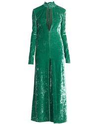 The Attico Velvet Buckle Dress - Green