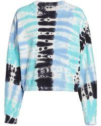 Electric and Rose Ronan Tie-dye Pullover Sweatshirt - Blue