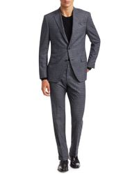 Saks Fifth Avenue - Men's Collection Glen Check Suit - Navy White - Lyst