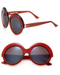 Cutler & Gross - 56mm Round Sunglasses - Lyst