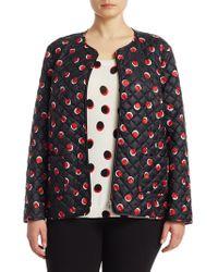 Marina Rinaldi - Plus Dot-print Quilted Jacket - Lyst
