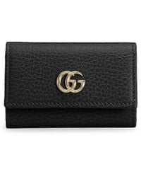 Gucci GG Marmont Leather Key Case - Black