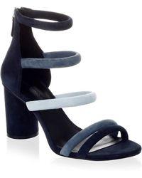 Rebecca Minkoff - Strappy Suede Sandals - Lyst