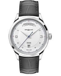 Montblanc Heritage Stainless Steel & Alligator Strap Automatic Day-date Watch - Multicolor