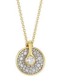Plevé - Opus Ice Circle Diamond & 18k Gold Pendant Necklace - Lyst