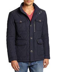 HUGO Corzey Quilted Jacket - Blue