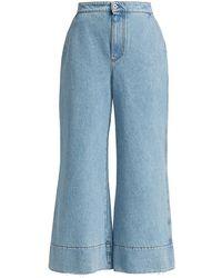 Loewe - Flare Wide-leg Jeans - Lyst
