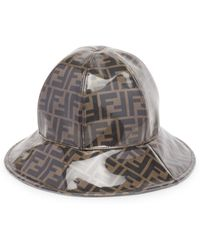 71b0fb62b2f Fendi - Men s Double-f Cloche Hat - Tobacco - Size Medium - Lyst