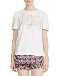Maje - Tody Lace Tee - Lyst
