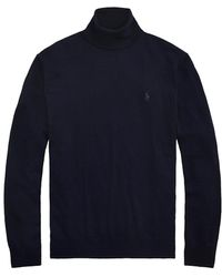 Polo Ralph Lauren Merino Wool Turtleneck Sweater - Blue