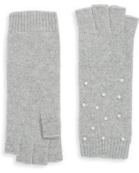 Portolano - Knit Embellished Gloves - Lyst