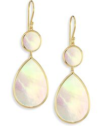 Ippolita | Polished Rock Candy Mother-of-pearl & 18k Yellow Gold Snowman Drop Earrings | Lyst