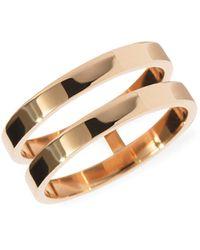 Repossi Berbere 18k Rose Gold 2-row Ring - Metallic
