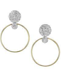 Phillips House Hero 14k Yellow Gold & Diamond Infinity Grand Loop Earrings - Metallic