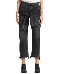 T By Alexander Wang - Stack Tie Crop Jeans - Lyst