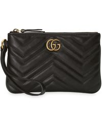 Gucci - GG Marmont Wrist Wallet - Lyst