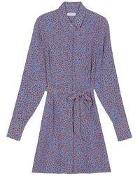 Equipment Sennet Self-tie Silk Dress - Blue