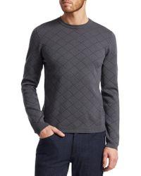 Giorgio Armani - Diamond Patter Sweatshirt - Lyst