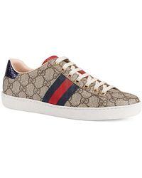 Gucci Ace GG Supreme Sneaker - Natural