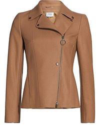 Akris Punto Stretch-wool Biker Jacket - Multicolor