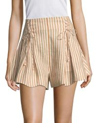 Zimmermann - Painted Heart Lace-up Shorts - Lyst