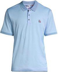 Robert Graham Archie Polo Shirt - Blue