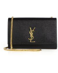 Saint Laurent - Medium Kate Monogram Leather Chain Shoulder Bag - Lyst 65073e4fd5b9b