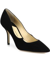 Paul Andrew - Kimura Suede Point Toe Pumps - Lyst