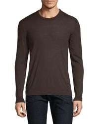 Kiton - Brown Knit Crewneck Sweater - Lyst