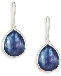 Ippolita | Rock Candy? Clear Quartz, Mother-of-pearl & Lapis Teardrop Earrings | Lyst