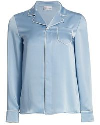 RED Valentino - Button-up Pajama Blouse - Lyst