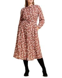 Marina Rinaldi Mr. Voyage Decorare Floral Shirtdress - Brown