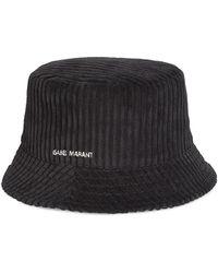 Isabel Marant Haley Ribbed Velvet Bucket Hat - Black