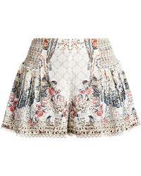 Camilla La Fleur Libertine Lace Trim High-waisted Shorts - Multicolor