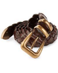 Brunello Cucinelli Braided Leather Belt - Brown