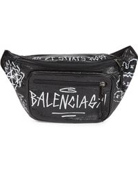 Balenciaga Graffiti Explorer Belt Pack - Black