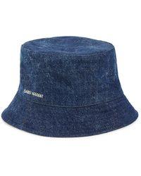 Isabel Marant Haley Denim Bucket Hat - Blue