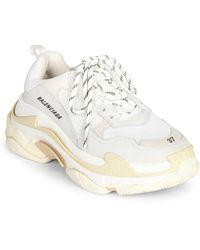Balenciaga Triple S Sneakers - White