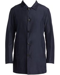 Saks Fifth Avenue Collection Reversible Rain Coat - Blue