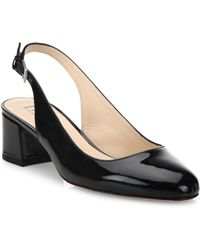 L.K.Bennett - Chloe Patent Leather Slingback Court Shoes - Lyst