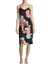 Natori - Printed Floral Slip - Lyst