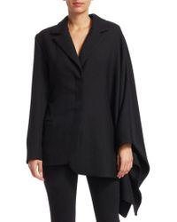 96a438e39927b1 Jacquemus - Women s Bibi Wool Cape Blazer - Black - Size 36 (4) -