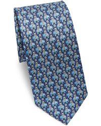 Ferragamo - Arabian Elephant Silk Tie - Lyst