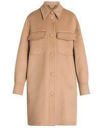Stella McCartney Kerry Wool Coat - Natural